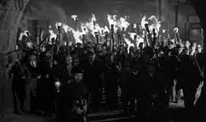 baying mob