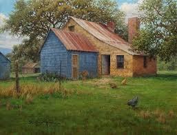 open farmhouse door